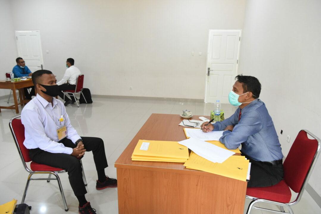 Casis PA PK TNI Tahun 2020 Laksanakan Tes Litpers