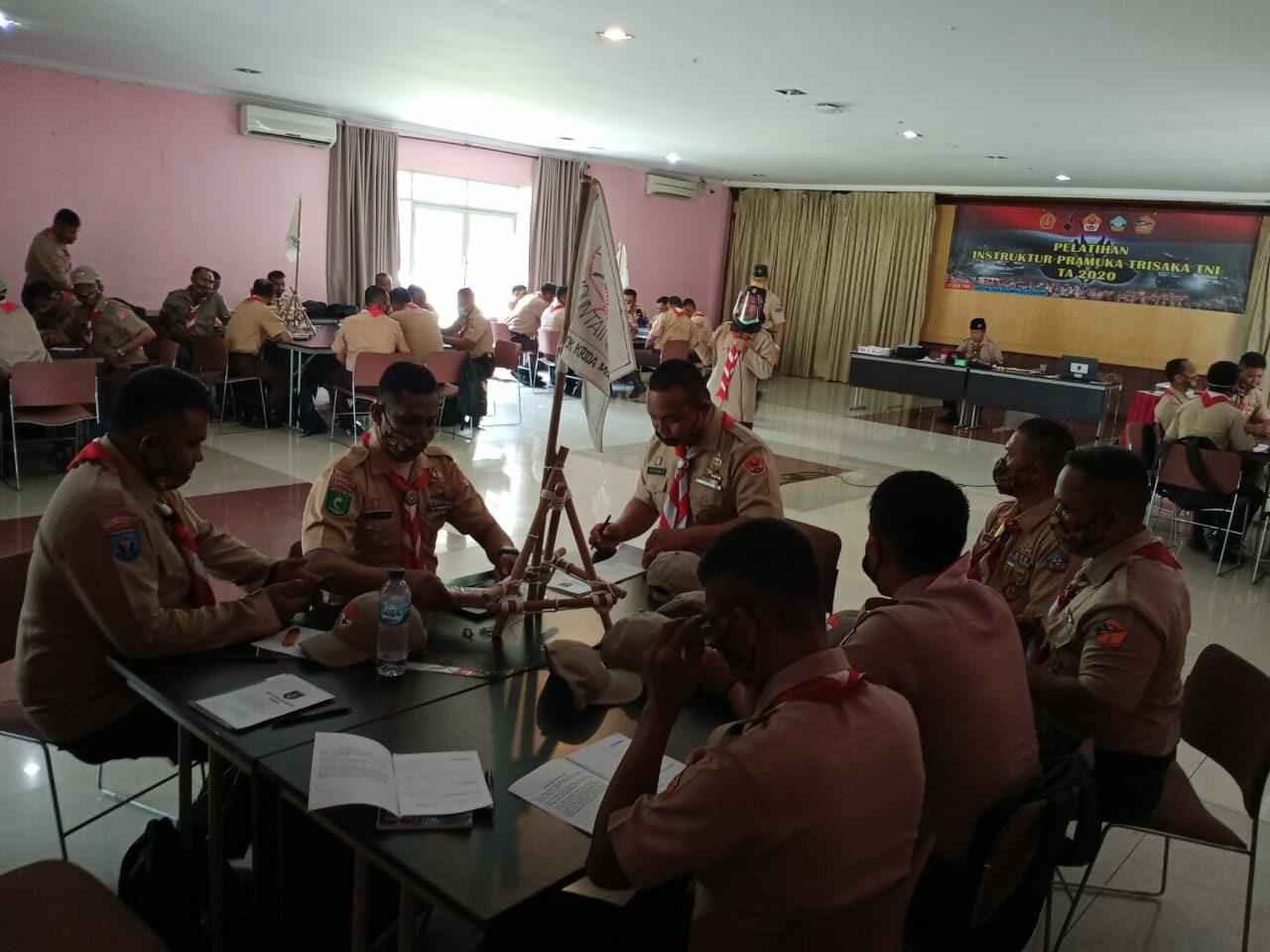 3 Personel Binpotdirga Lanud Rsn Ikuti Pelatihan Instruktur Pramuka