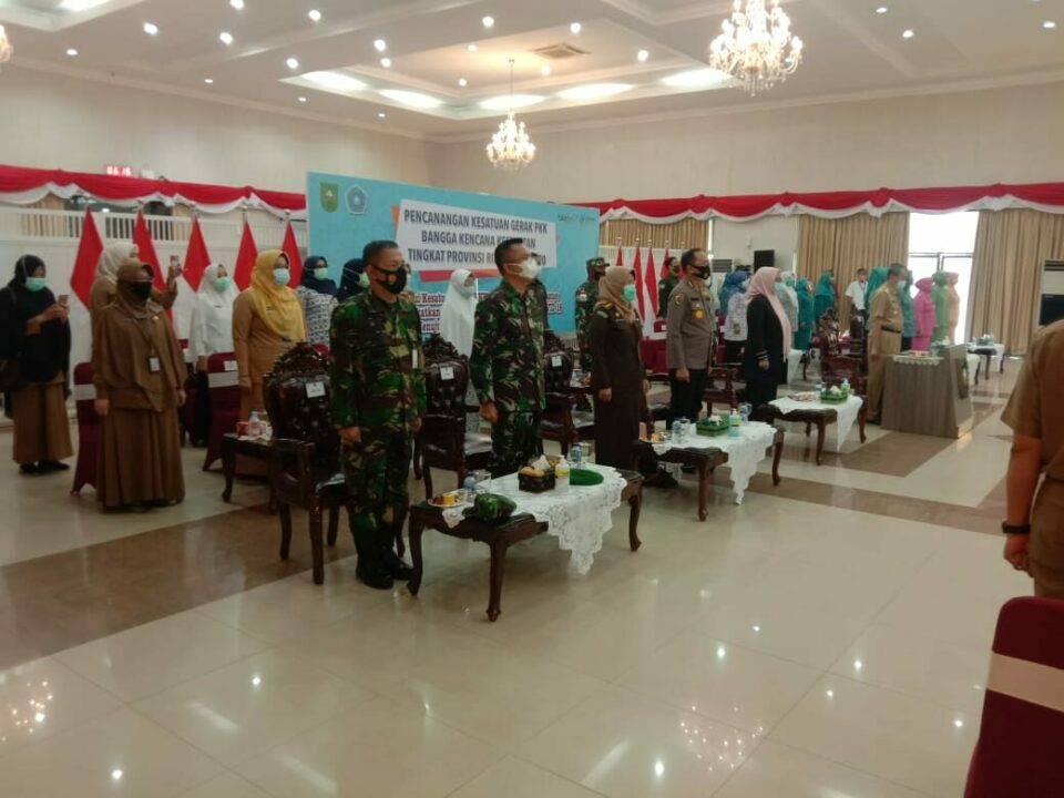 Lanud Rsn Hadiri Pencanangan Kesatuan Gerak PKK Provinsi Riau