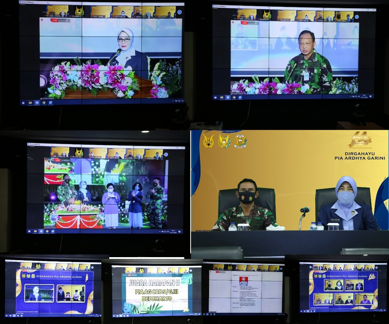 HUT PIA Ardhya Garini Ke-64 Dirayakan Secara Virtual