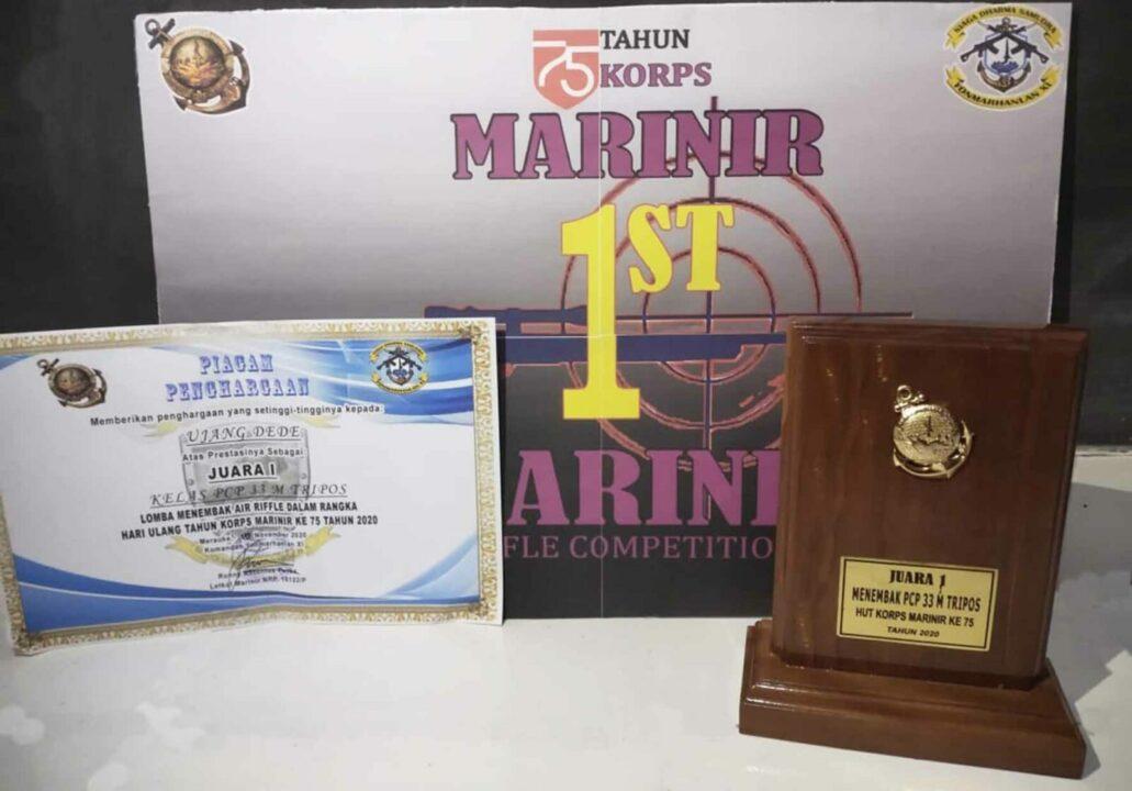 Yonko 468 Paskhas Meraih Juara 1 Lomba Menembak Dalam Rangka Hut Marinir Ke – 75