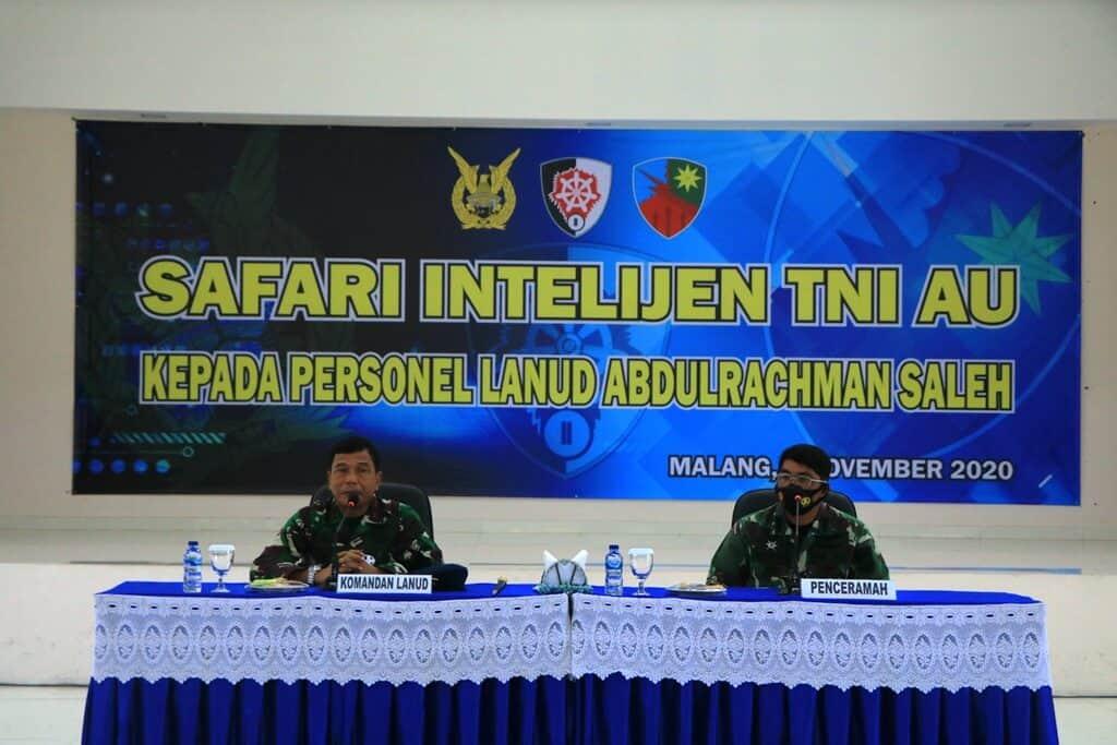 Safari Intelijen dari Dispamsanau Bagi Personel Lanud Abdulrachman Saleh 2020