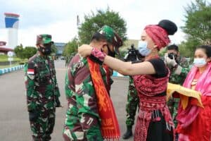 Marsma TNI Palito Sitorus, S.I.P., M.M Sambut Kedatangan Pangkogabwilhan I