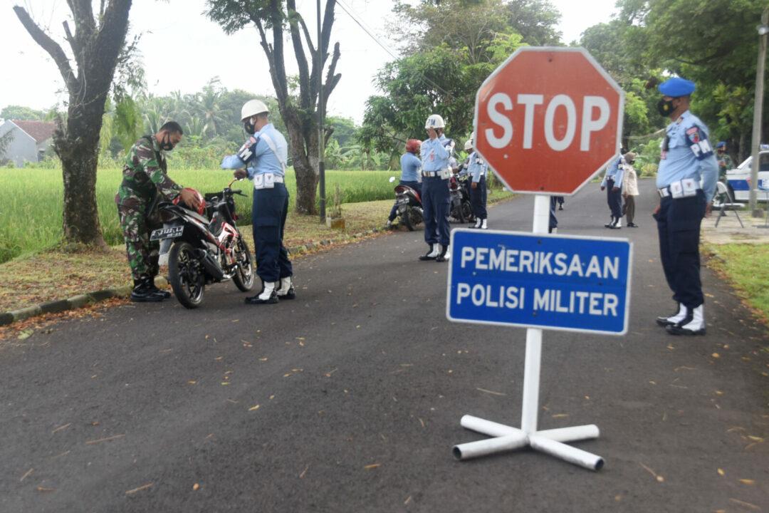 Satpomau Lanud Wiriadinata Laksanakan Gaktib Dan Sosialisasi Tertib Lalu Lintas