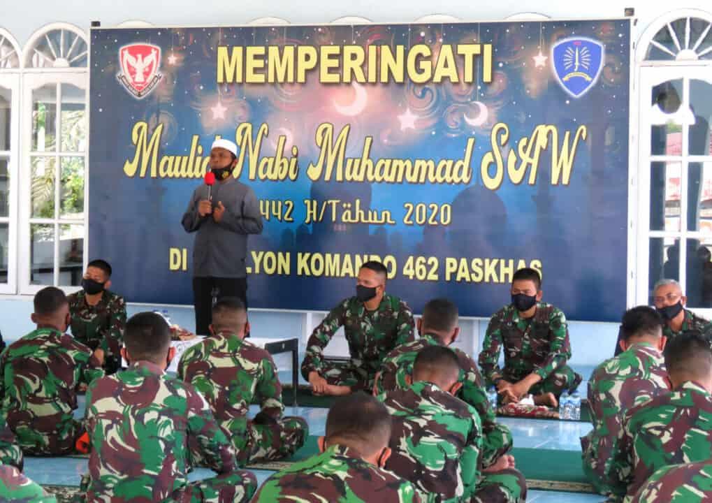 Peringati Maulid Nabi di Musholla Al Hidayat Yonko 462 Paskhas