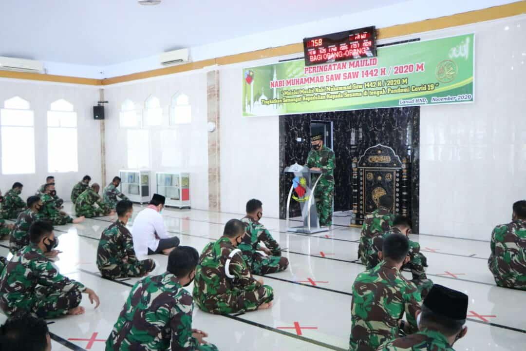 Peringatan Maulid Nabi Muhammad SAW di Lanud Sultan Hasanuddin