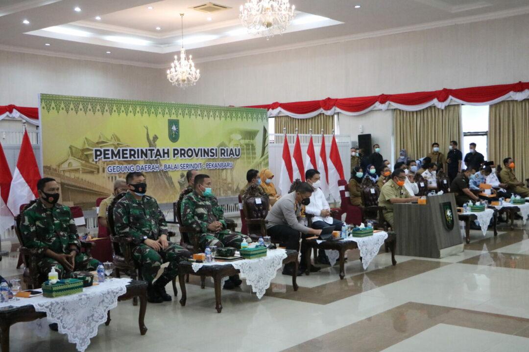 Danlanud Rsn Hadiri Rakor Pelaksanaan Tugas dan Fungsi Instansi Vertikal se Provinsi Riau