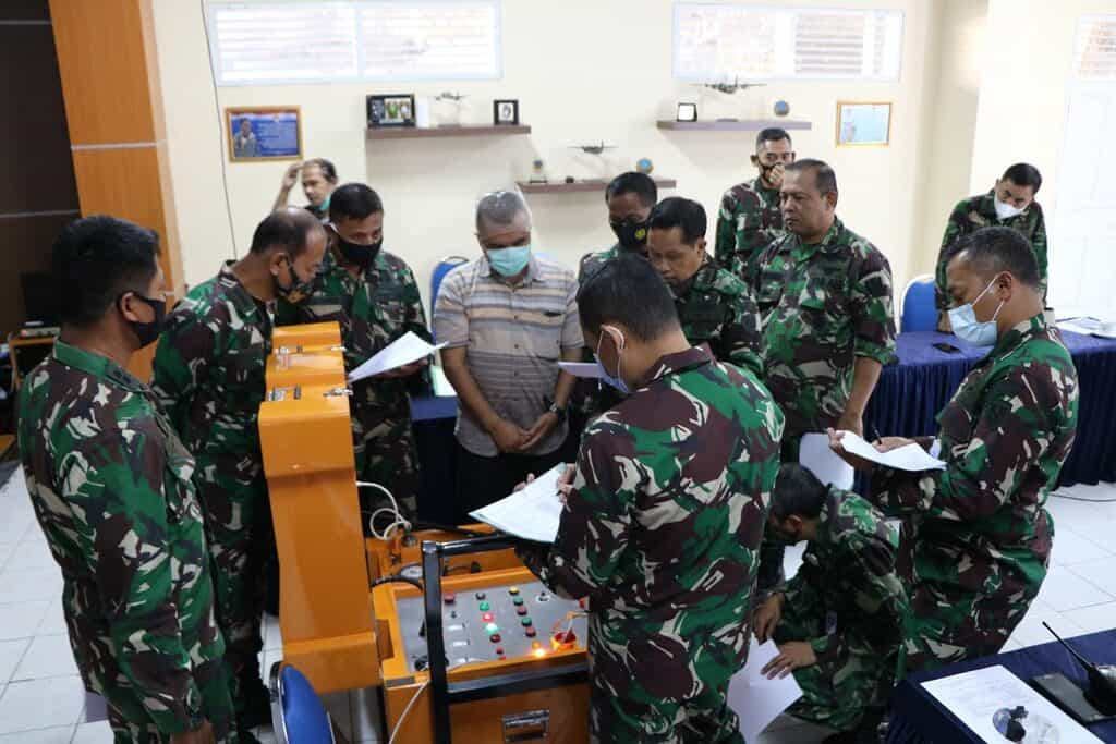 Pelaksanaan Uji Dinamis Tester Torque System Pesawat C 212 di Skatek 022 Lanud Abd Saleh