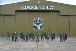 Pembukaan Pendidikan Latihan Kerja Sejurla FCSMBSC A-II di Skadron Teknik 044 Lanud Sultan Hasanuddin