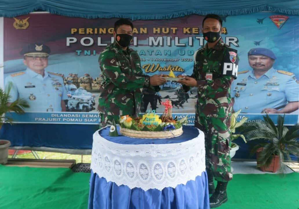 Peringatan ke-74 Hari Ulang Tahun Pomau di Lanud Sri Mulyono Herlambang