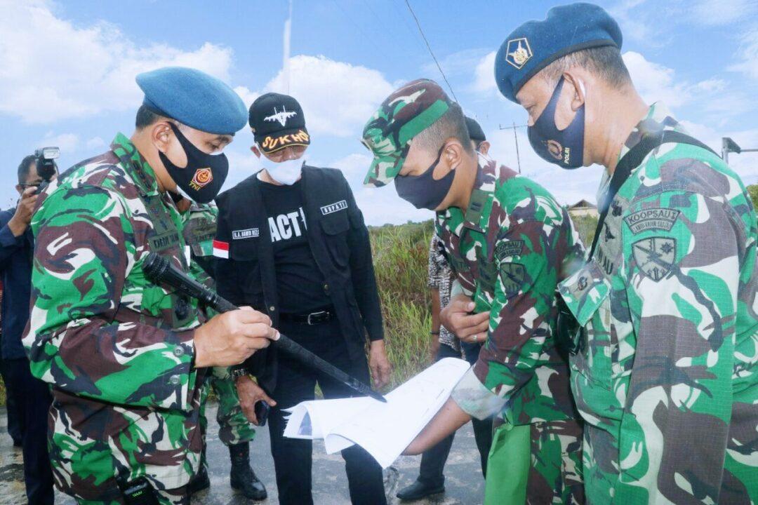 Danlanud RSA Tinjau Aset Landasan TNI AU di Pulau Subi Kabupaten Natuna