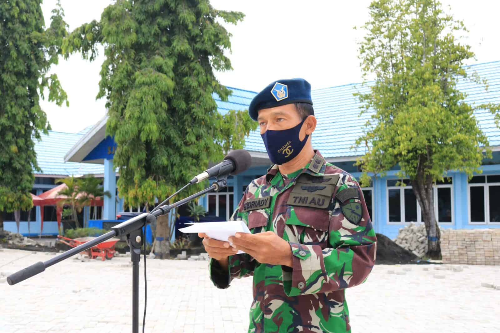 Apel Khusus Dalam Rangka Peringati HUT Pomau ke-74 Di Lanud Sjamsudin Noor