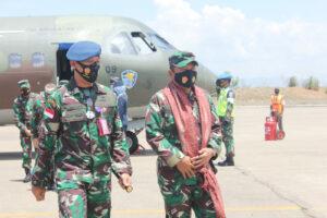 DANLANUD EL TARI MENYAMBUT KASUM TNI DILANUD EL TARI