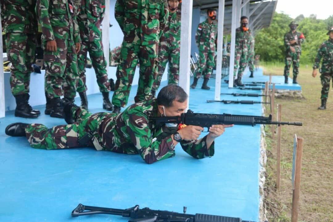 Lanud RSA Gelar Latihan Menembak