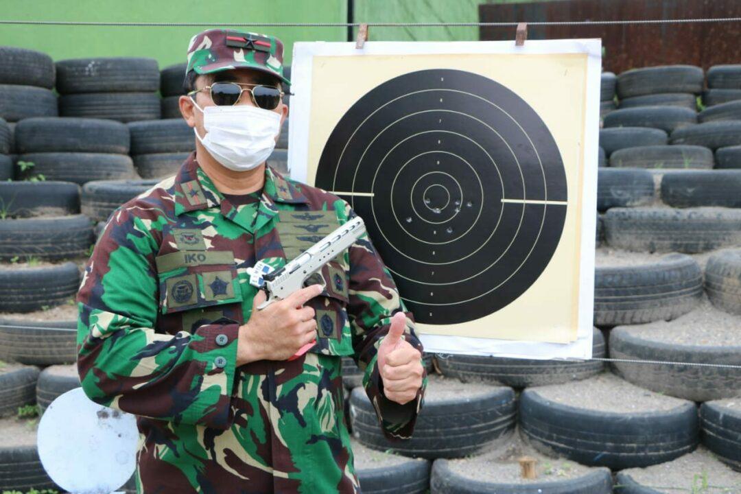 Danlanud Iswahjudi Latihan Menembak Pistol