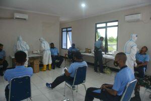 Cegah Covid-19, Lanud Raden Sadjad Gelar Rapid Test Swab Bagi Seluruh Personel