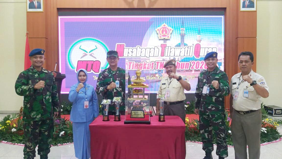 Kafilah TNI AU Raih Juara Umum Pada MTQ Tingkat TNI Tahun 2020