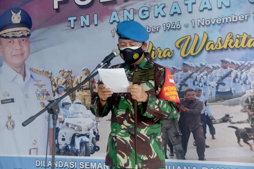 Peringatan Hut Ke-74 POM AU di Lanud Wiriadinata