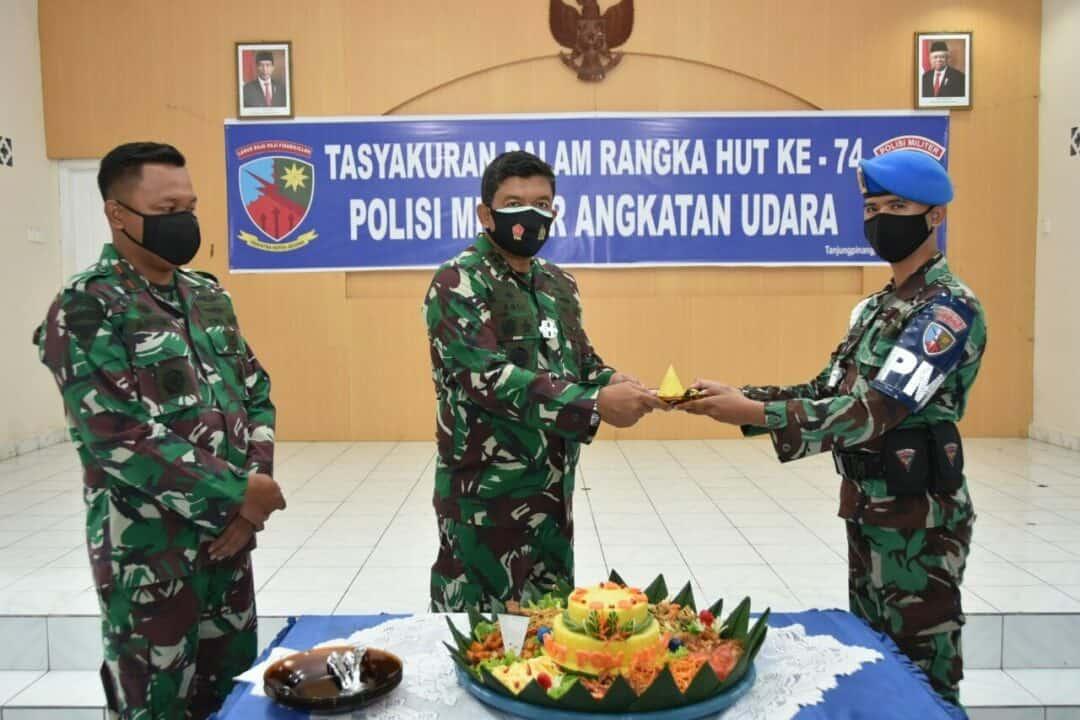 Tasyakuran Peringatan HUT ke-74 Pomau di Lanud RHF
