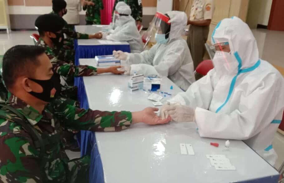Gelar Rapid Test Prajurit Dan Keluarga Kosekhanudnas II Tahap Lima