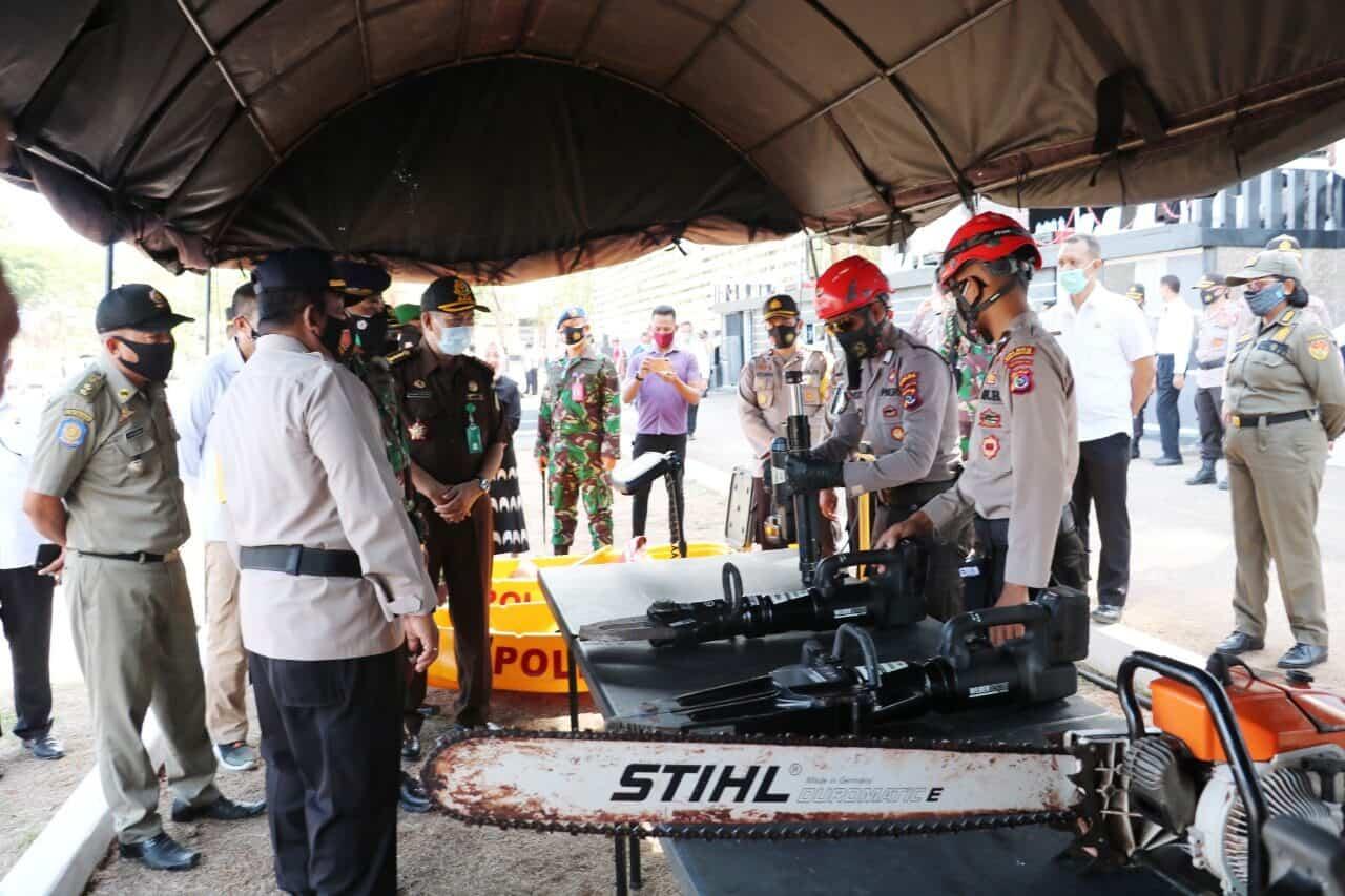 Danlanud El Tari Menghadiri Apel Kesiapsiagaan Penanganan Bencana Alam di Wilkum Polda NTT