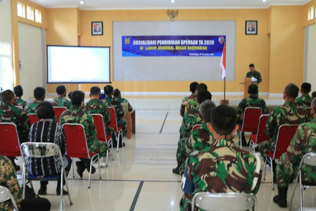 Sosialisasi Pembinaan Pendidikan TNI AU di Lanud J.B. Soedirman