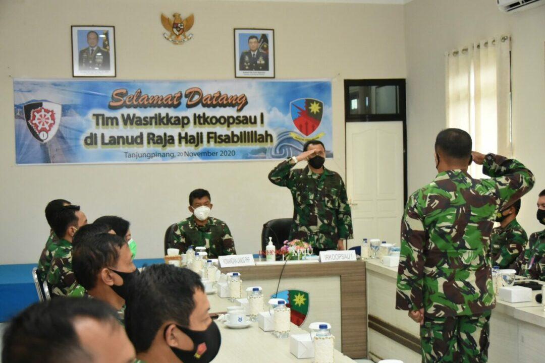 Lanud RHF Terima Kunjungan dan Laksanakan Entry Briefing Bersama Tim Wasrikkap Itkoopsau I