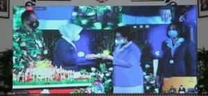 Danlanud dan Ketua PIA AG Lanud Iswahjudi Ikuti Peringatan HUT ke-64 PIA AG Melalui Vicon