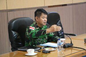 Pangkoopsau III Pimpin Rapat Evaluasi Progja Koopsau III Dan Satuan Jajaran secara Virtual