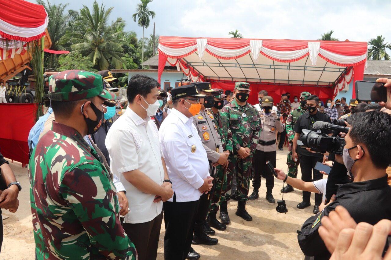 Danlanud Rsn Bersama Wagub Riau Pantau Pilkada Serentak