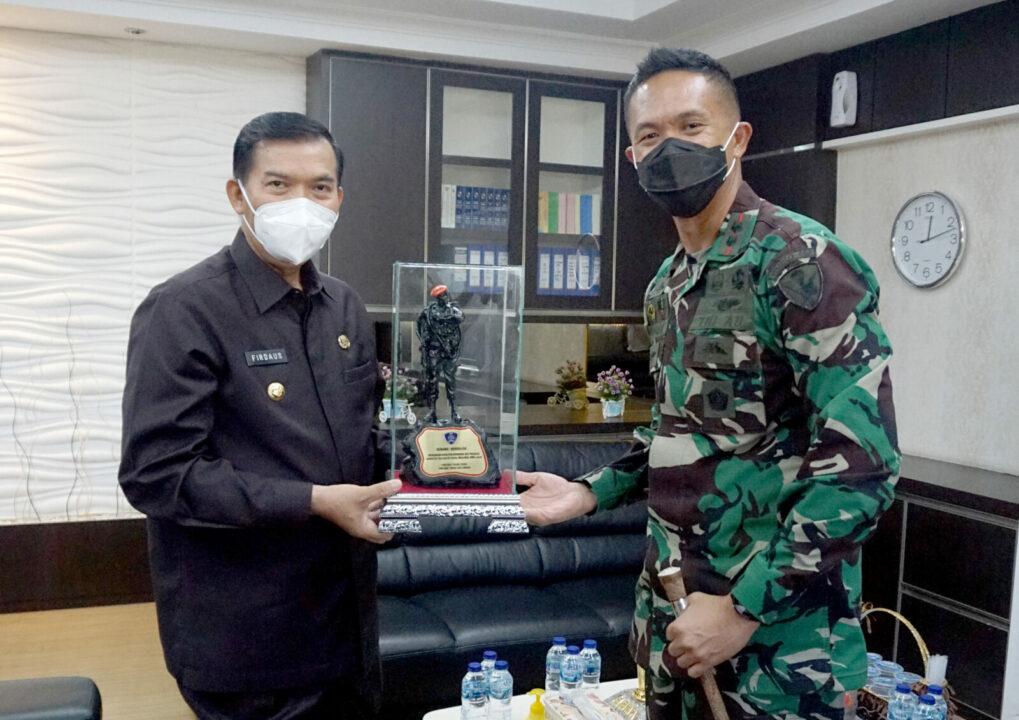 Jalin Silaturahmi Danyonko 462 Paskhas Kunjungi Walikota Pekanbaru