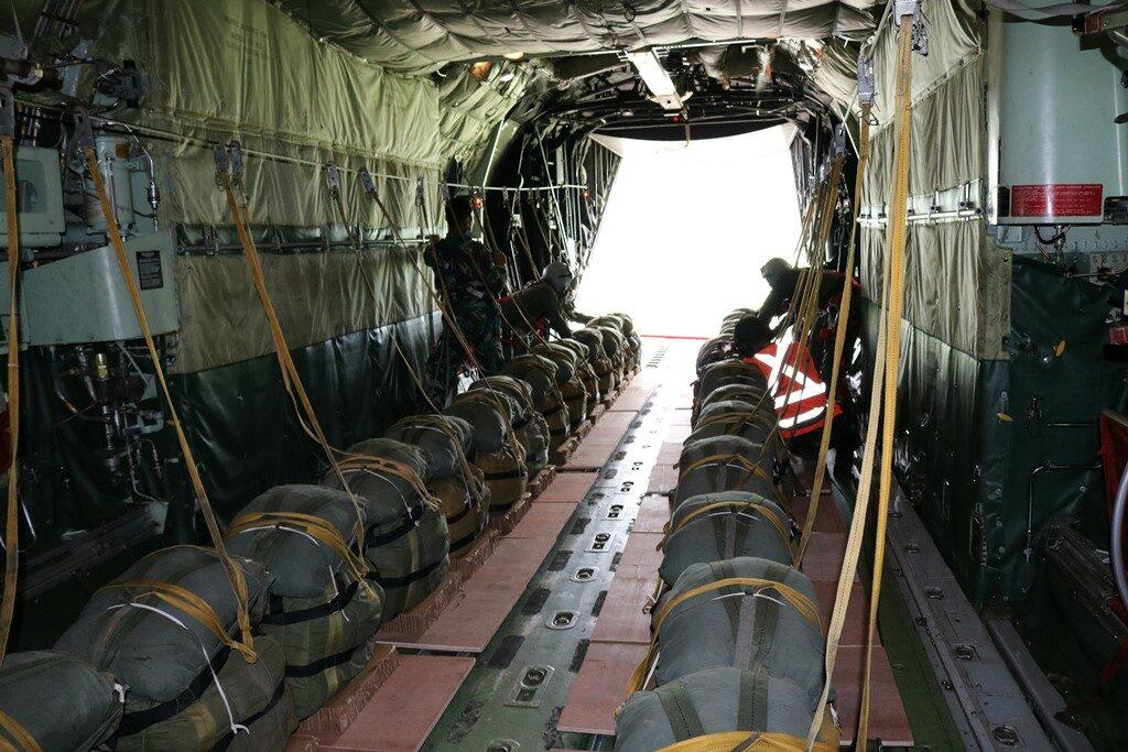 Herky Charity Drop Skadron Udara 32 Lanud Abdulrachman Saleh