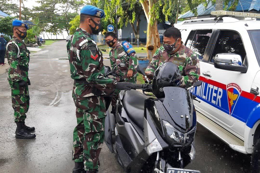 Tegakkan Disiplin, Satpom Lanud Dhomber Gelar Operasi Gaktib