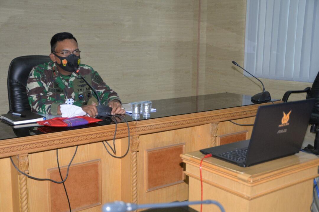 Pangkosekhanudnas III Pimpin Paparan Dan Kajian Karya Militer Secara Virtual