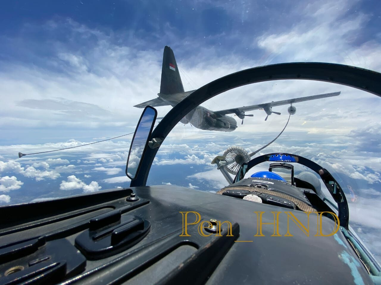 Lanud Sultan Hasanuddin Gelar Latihan Air Refueling Di Langit Sulawesi