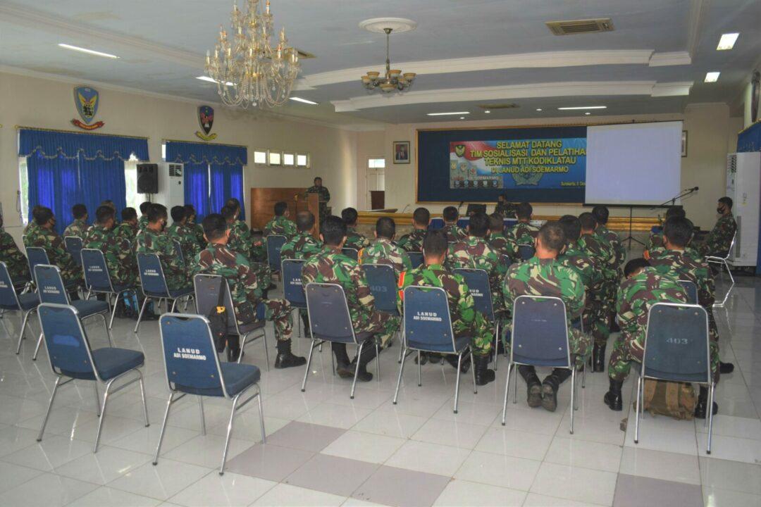 Sosialisasi Dan Pelatihan Teknis MTT Kodiklatau Di Lanud Adi Soemarmo