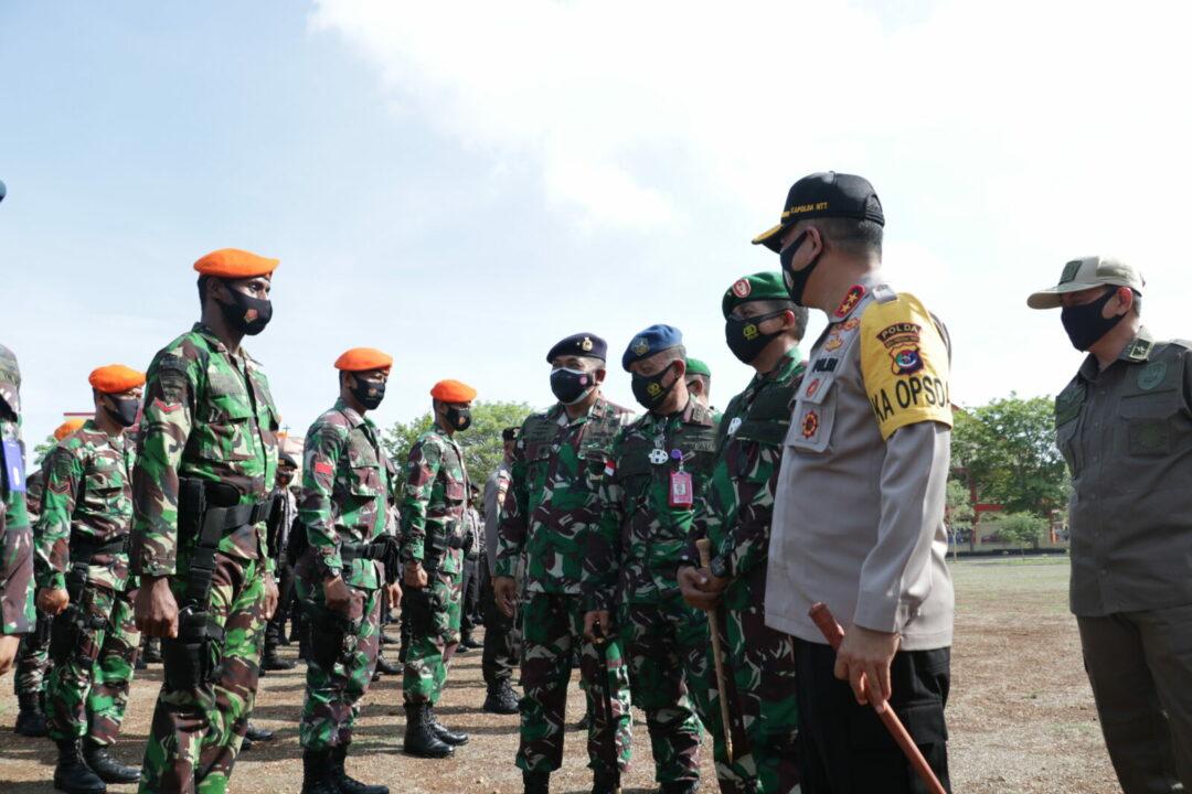 DANLANUD EL TARI MENGHADIRI APEL SINERGITAS TNI DAN POLRI DI MAPOLDA NTT