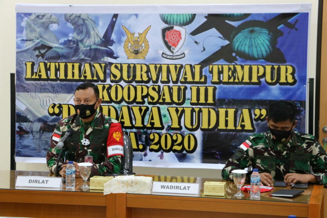 """Asops Kas Koopsau III Biak Memimpin Briefing Kesiapan Latihan Survival Tempur """"Digdaya Yudha"""" 2020"""