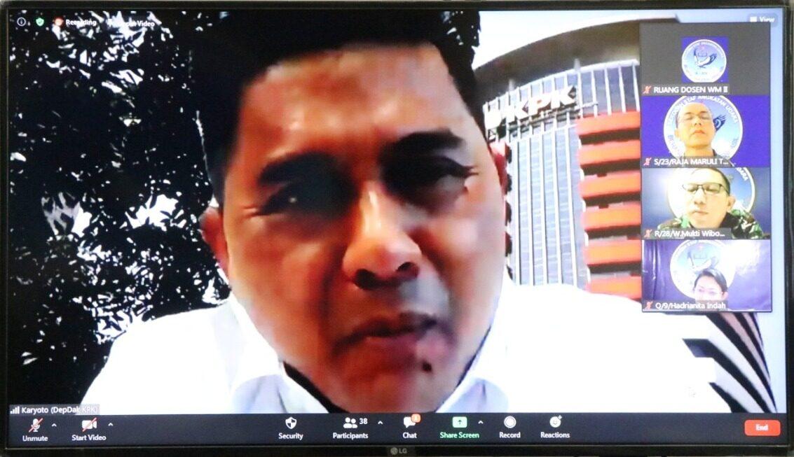 Pembekalan Deputi Penindakan KPK Kepada Pasis Sesau A-14