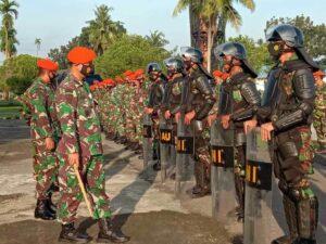 Danwing III Paskhas Pimpin Apel Kesiapan Pengamanan Pilkada Serentak Th. 2020