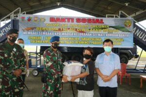 Baksos TNI AU Wilayah Medan kepada Korban Banjir