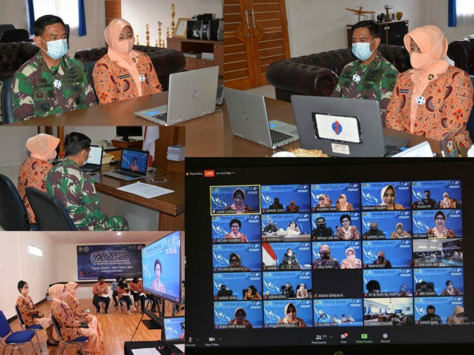 Danlanud dan Ketua Yasarini Cabang Lanud Suryadarma Ikuti Pembukaan FESA IV 2020