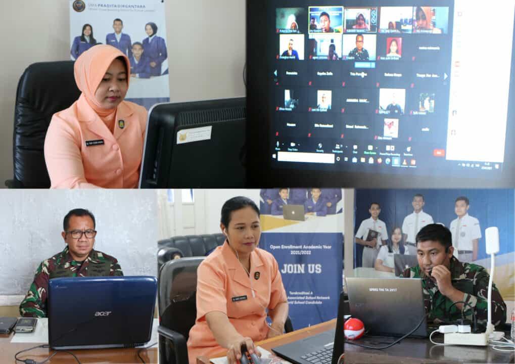 Tim PPDB SMA Pradita Dirgantara Lanud Suryadarma Memberikan Sosialisasi kepada SMP Se-Purwasuka