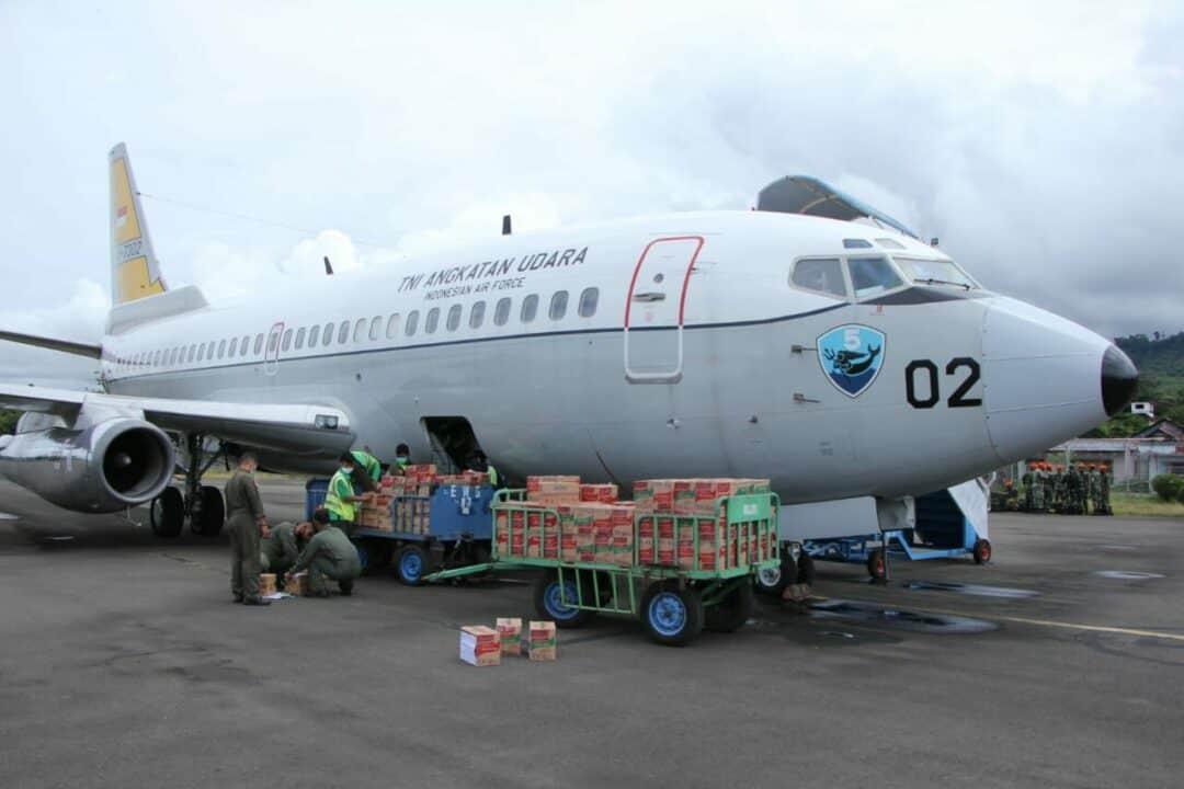 Lanud Sultan Hasanuddin Terbangkan Pesawat Boeing 737 guna Membantu Korban Gempa Majene, Sulbar