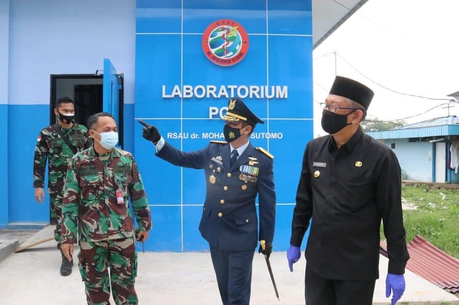 Gubernur Kalbar Tinjau Laboratorium PCR RSAU dr. Mohammad Sutomo Lanud Supadio