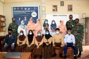 Tim PPDB SMA Pradita Dirgantara Lanud Sri Mulyono Herlambang Sosialisasi Ke SMP Se-Palembang