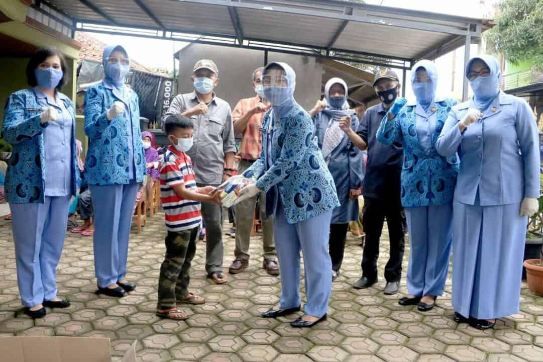 PIA AG Gabungan IV Korpaskhas Gelar Bhakti Sosial Tanah Longsor di Sumedang