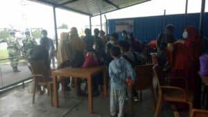 Korban Luka dan Pengungsi Gempa Sulbar Diterbangkan ke Makassar Menggunakan Pesawat Boeing 737 Skadron Udara 5 Lanud Sultan Hasanuddin