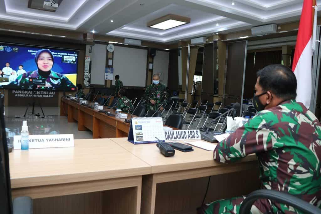 Lanud Abd Saleh Selenggarakan Vicon Sosialisasi Penerimaan Casis SMA Pradita Dirgantara TP 2021/2022