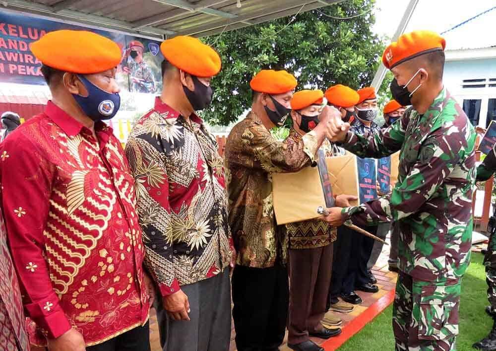 Danyonko 462 Paskhas Berikan Tali Asih Kepada Purnawirawan Paskhas Di Pekanbaru